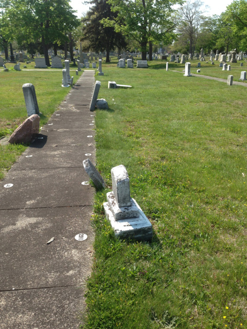 Vandalism at Fall River's Oak Grove Cemetery