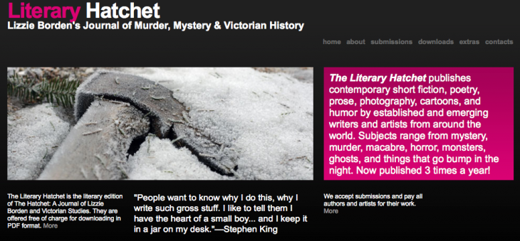 The Literary Hatchet #9 is Online!