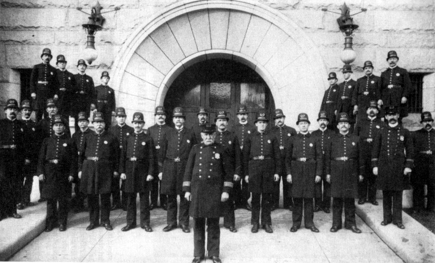 Fall River Police Force, circa 1900.