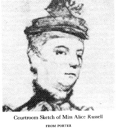 ALICE MANLEY RUSSELL, 1852 - 1941.
