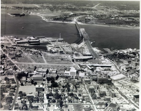 Aerial view of Fall River