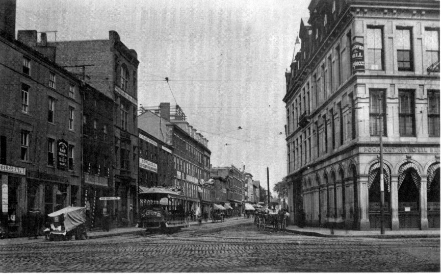 Main and Bedford Streets, 1892