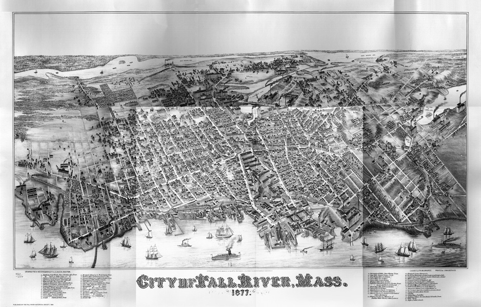 Panorama Map of Fall River