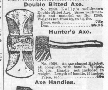 Double Bitted Axe and Hunter's Axe