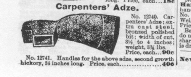 Carpenters' Adze
